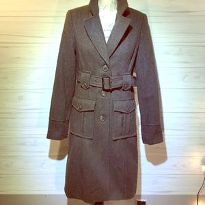 Merona 1950's Wool Trench Coat Size Small
